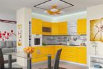 Кухня Ассорти (лимон) угловая №4