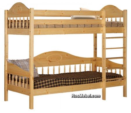 Кровать Фрея-3 двухъярусная бесцветный лак