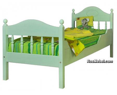 Кровать Фрея-2 с фигурными бортиками бесцветный лак