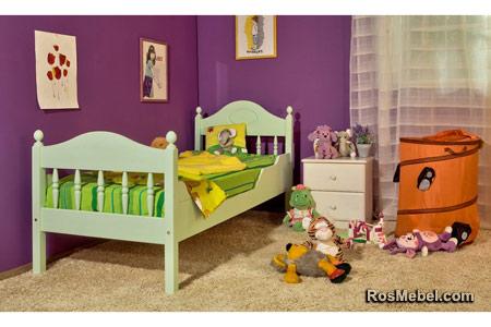 Кровать детская Фрея-2 с фигурными бортиками в интерьере