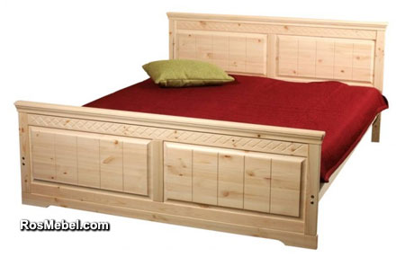 Кровать Дания-1 бесцветный лак