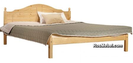 Кровать Кая-1 бесцветный лак