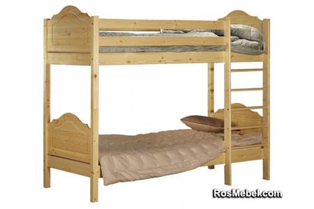 Кровать Кая-2 двухъярусная (тонировка)