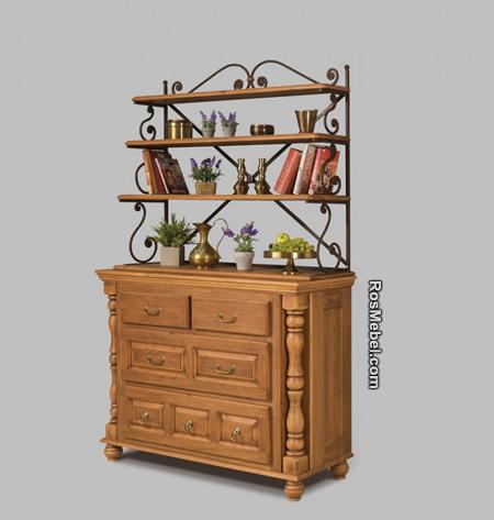 Комод Валенсия 2-27 с кованой граверсой (Мебель «ВАЛЕНСИЯ)