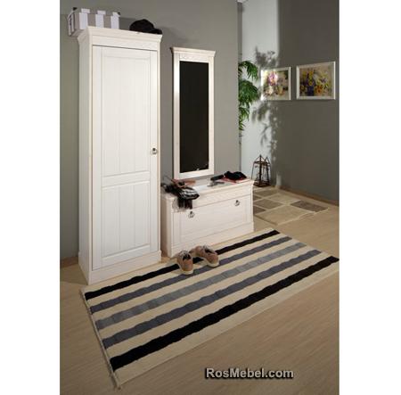 Шкаф для прихожей Дания 1-дверный (Мебель ДАНИЯ)