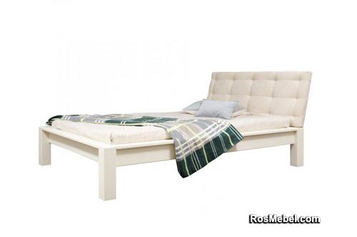 Кровать Брамминг-1 мягкая (бесцветный лак)