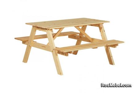 Стол с лавками Пикник 1400