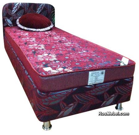 Кровать бокс со спинкой и матрасом