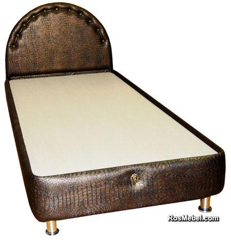 Кровать бокс (в коже) с бортами