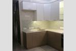 Кухня верх белая, низ кремовая