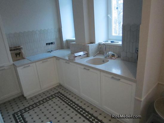 Кухня белая прованс