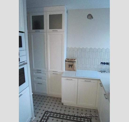 Кухня белая прованс комод