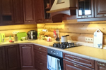 Кухня массив ясеня с патинированием