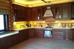 Заказать Кухня массив ясеня с патинированием БЕЗ посредников!