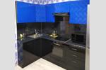 Заказать Кухня синяя с черным БЕЗ посредников!