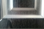 Кухня фасад МДФ в ПВХ плёнке, с косичкой, с серебряной патиной