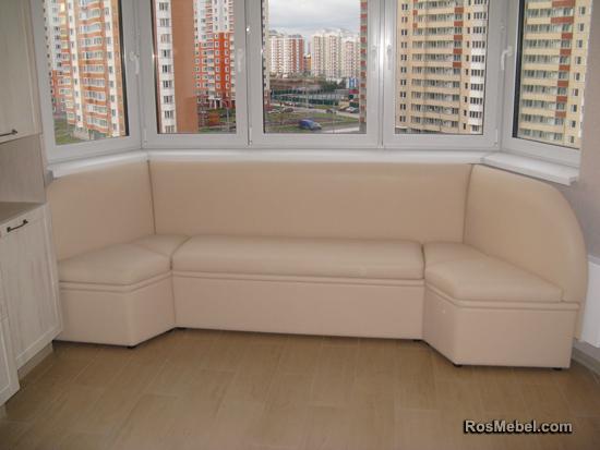 Эркерный кухонный диван п-44т