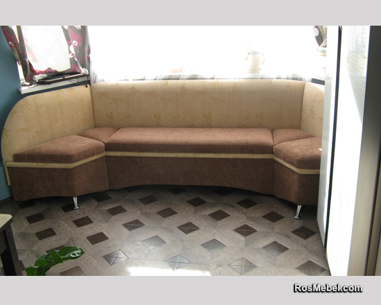 Эркерный кухонный диван