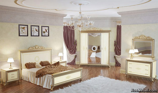 """Спальня """"Версаль"""" в цвете слоновая кость"""