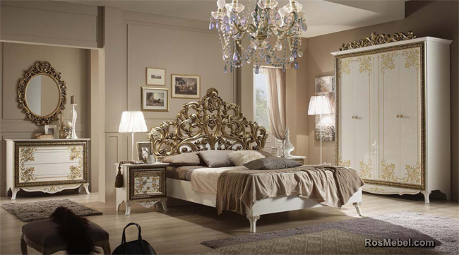 спальня Стефани белое золото/серебро