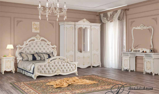 спальня Рафаэлла слоновая кость / матовый