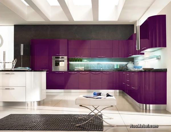 Кухня LUCIDO АКРИЛ фиолетовая