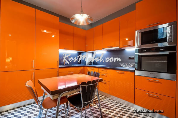 Кухня LUCIDO АКРИЛ оранжевая