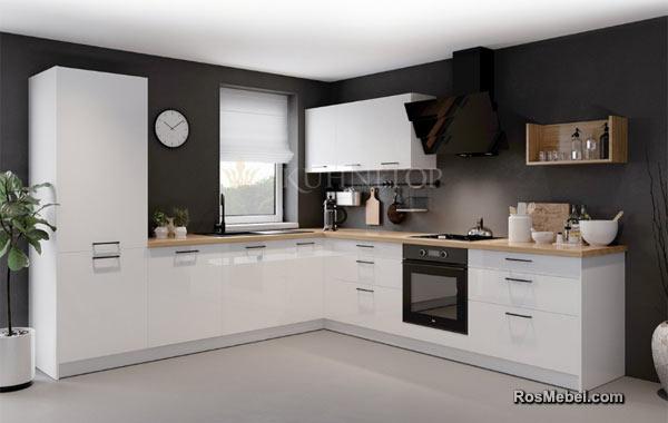 Кухня LUCIDO АКРИЛ белая глянцевая