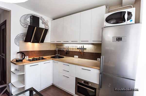 Кухня LUCIDO PRO АКРИЛ белая
