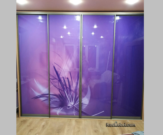 Шкаф фиолетовый