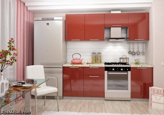 Кухонный гарнитур 2.1 Олива — гранат