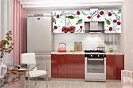 Заказать Кухонный Гарнитур 2.1 Олива с Фотопечатью - Вишня БЕЗ посредников!