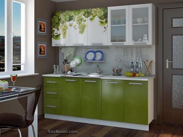 Кухонный Гарнитур Лоза с Фотопечатью