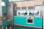 Заказать Кухонный Гарнитур - Микс (Дуб Сонома/Бирюза) - 2400мм БЕЗ посредников!