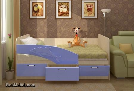 Детская Кровать Дельфин 1.6 Метра