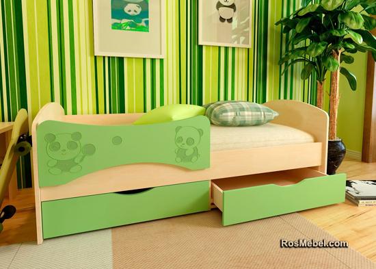 Детская Кровать С Фотопечатью Панда 1 (180х80)