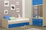 Заказать Детская Кровать - Радуга (Синяя) БЕЗ посредников!