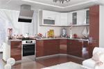 Заказать Кухня София угловая 315х245 Бело красная БЕЗ посредников!