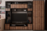 Стенка Ника 1 со шкафом Дуб Сакраменто