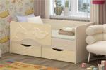 Заказать Детская кровать Дельфин 2 160х80 ваниль БЕЗ посредников!
