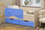 Детская кровать Дельфин 2 160х80 голубой