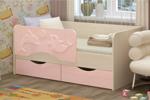 Детская кровать Дельфин 2 160х80 розовый