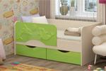 Заказать Детская кровать Дельфин 2 160х80 салатовый БЕЗ посредников!