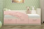 Детская Кровать Дельфин 1.6м Розовая