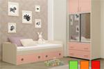 Детская кровать Радуга розовая