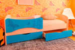 Заказать Детская кровать с фотопечатью Бабочки БЕЗ посредников!