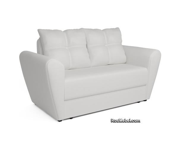 Выкатной диван Квартет экокожа белая