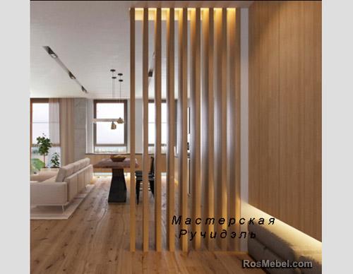 Перегородка Vertical Wood natur