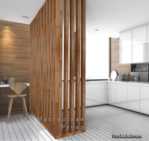 Перегородка Vertical Wood classic угловая