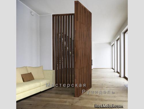 Перегородка Vertical Wood classic угловая tobaco